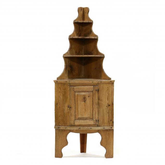 antique-continental-diminutive-pine-corner-cupboard