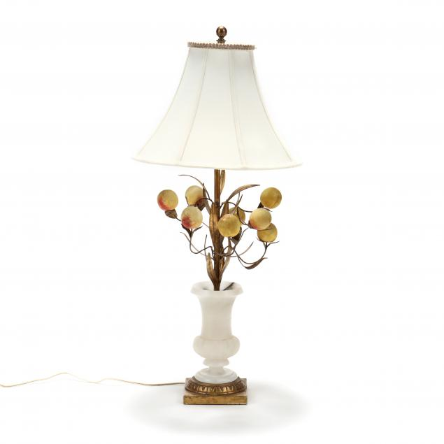 a-vintage-alabaster-peach-tree-table-lamp