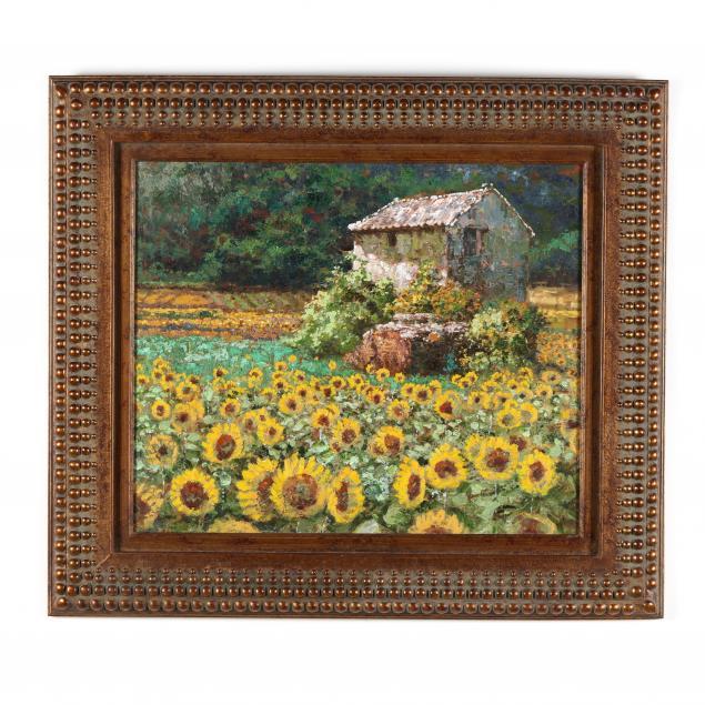 a-contemporary-decorative-italian-landscape-with-sunflowers
