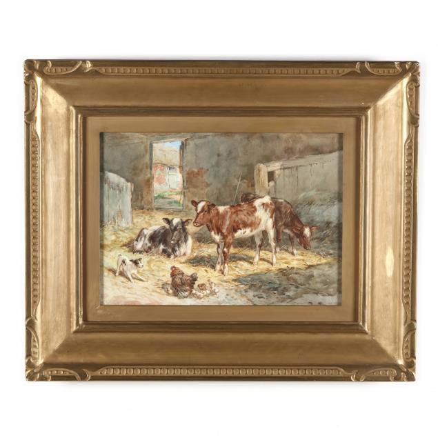 claude-cardon-english-1864-1937-antics-in-the-barn