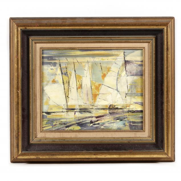 a-mid-century-modern-painting-of-sailboats