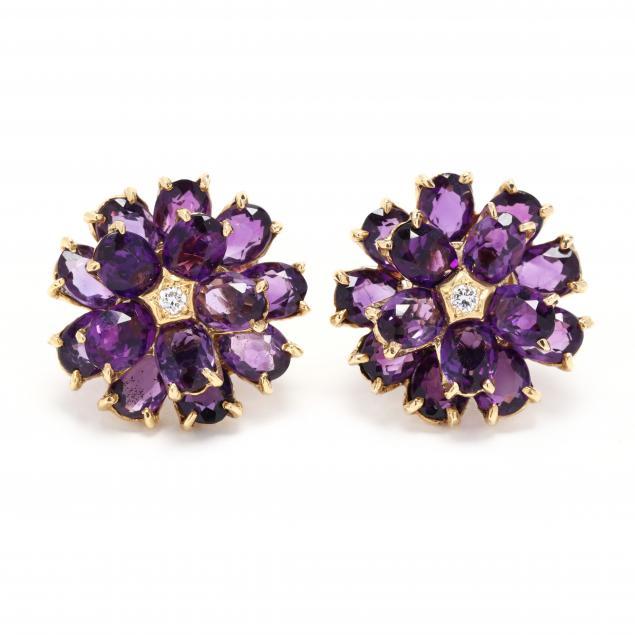 18kt-gold-amethyst-and-diamond-earrings