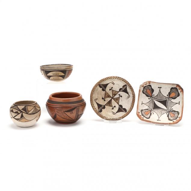 five-pieces-of-miniature-southwest-indian-pottery