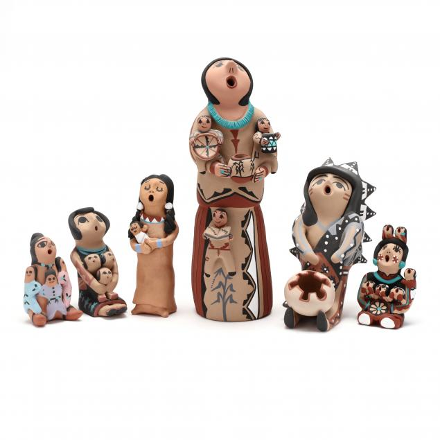 six-southwest-pottery-storyteller-figures