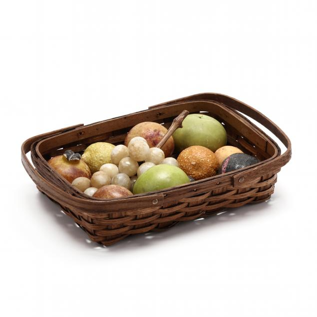 vintage-stone-fruit-in-a-basket-13-pieces