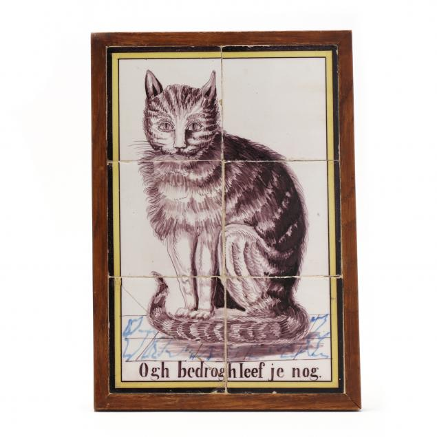 a-delft-six-tile-portrait-of-a-seated-cat