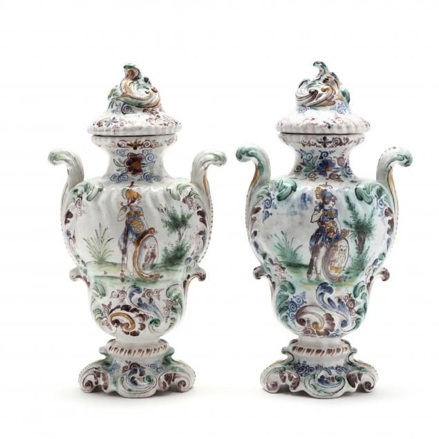 pair-of-antique-delft-faience-polychrome-vases