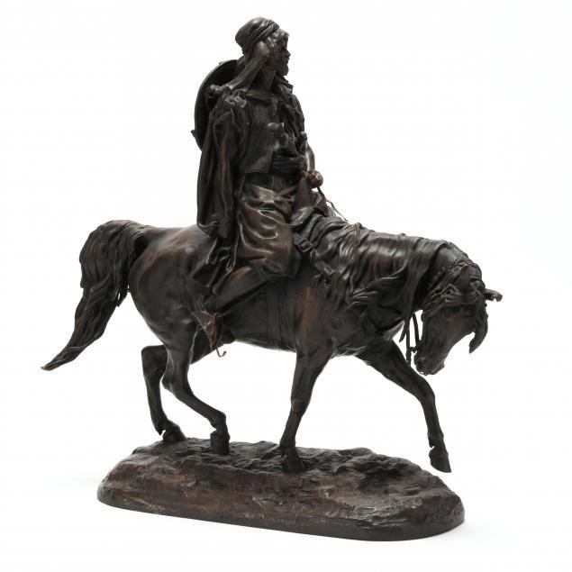 evgeni-alexandrovich-lanceray-russian-1848-1886-an-arab-on-horseback