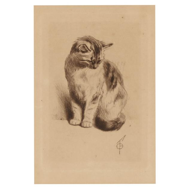 ferdinand-oger-french-1872-1922-i-petit-chat-assis-little-cat-sitting-i