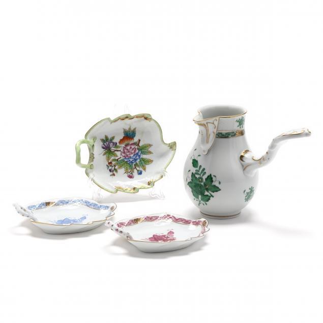 four-herend-porcelain-pieces