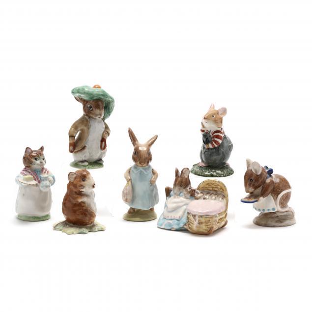 seven-vintage-beatrix-potter-beswick-animal-figures