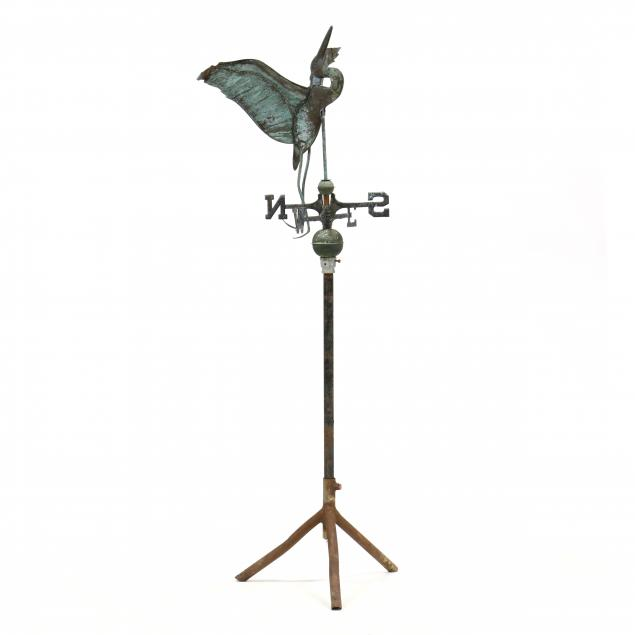 vintage-american-copper-heron-weathervane-on-stand
