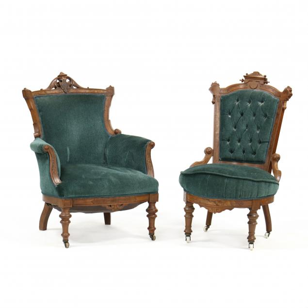 two-american-renaissance-revival-walnut-parlor-chairs
