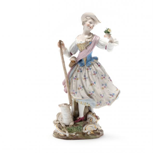 a-meissen-figurine-of-a-shepherdess-with-lamb