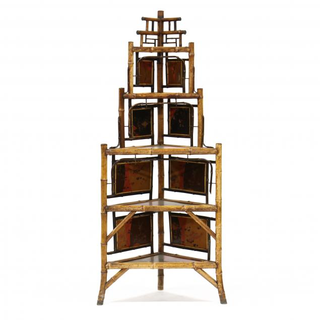antique-english-lacquered-panel-and-bamboo-corner-etagere