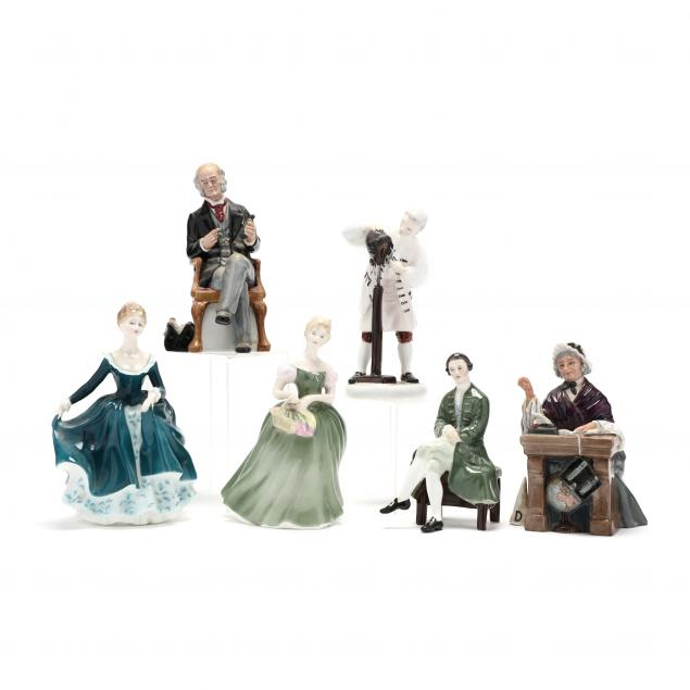 six-royal-doulton-figurines