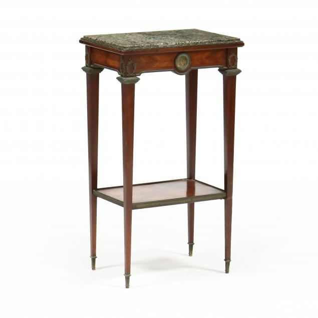french-empire-style-marble-top-mahogany-one-drawer-stand