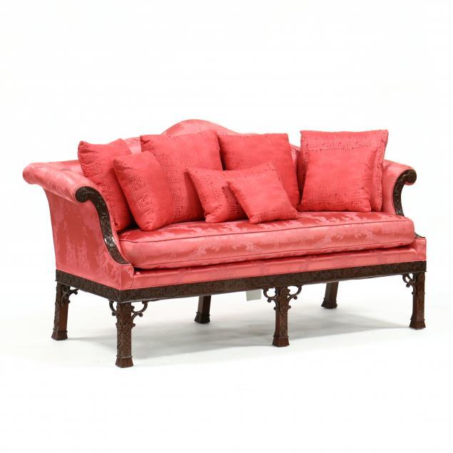 baker-chinese-chippendale-style-mahogany-sofa