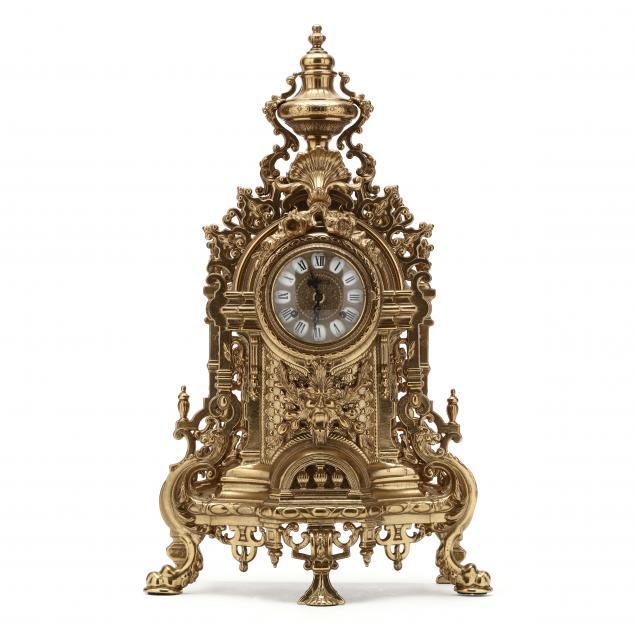 franze-hermle-imperial-gilt-brass-mantel-clock