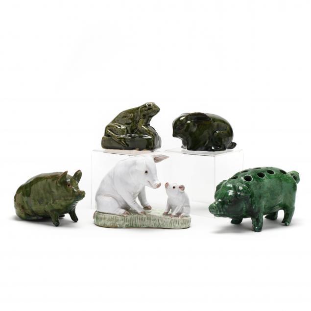 five-pottery-animal-figures