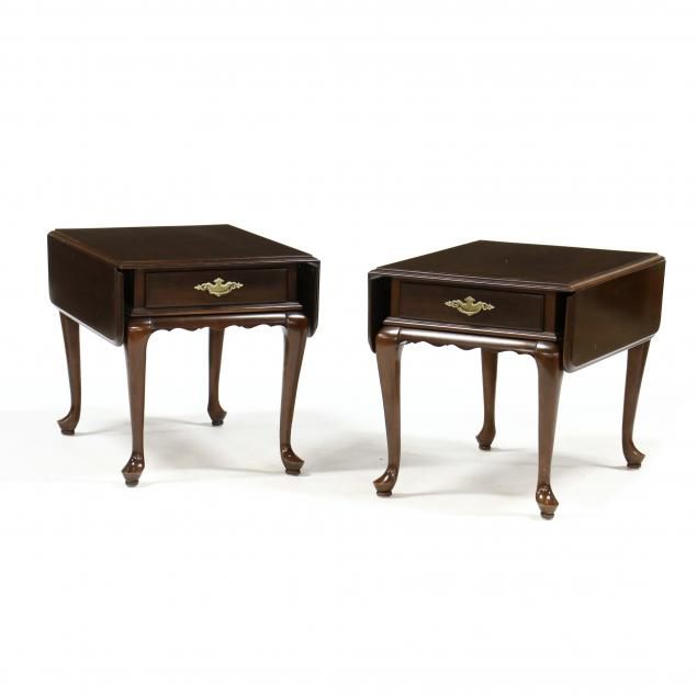 ethan-allen-pair-of-cherry-queen-anne-side-tables