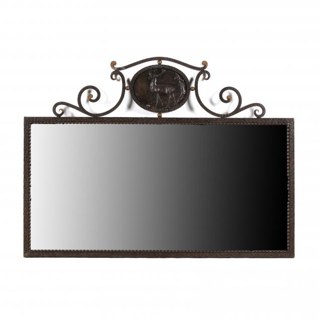 continental-iron-mirror-with-stag-panel