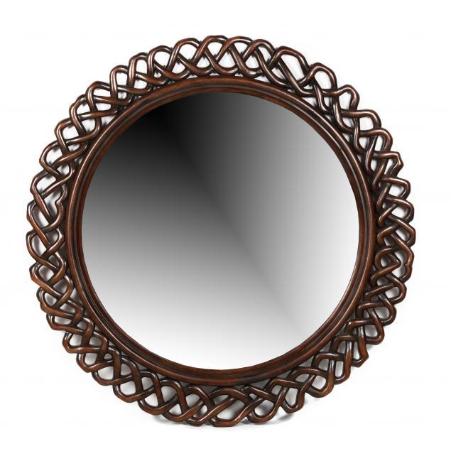 decorative-carved-mahogany-circular-mirror