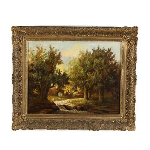 dutch-school-landscape-painting-of-a-forest-interior