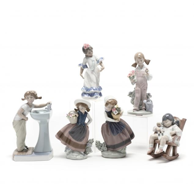 selection-of-six-lladro-figurines
