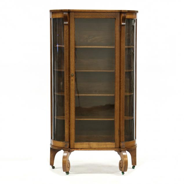 vintage-oak-and-glass-china-cabinet