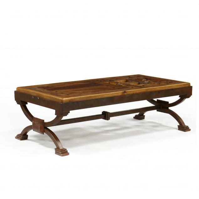 custom-architectural-wood-and-steel-coffee-table