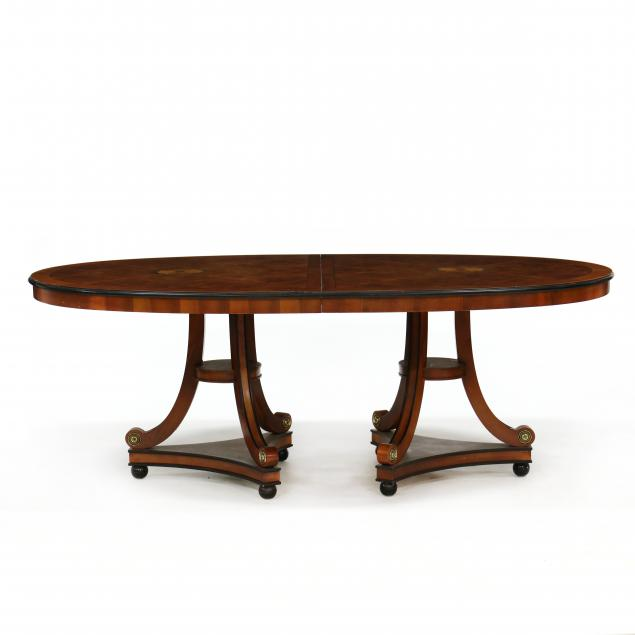 century-continental-style-inlaid-double-pedestal-dining-table