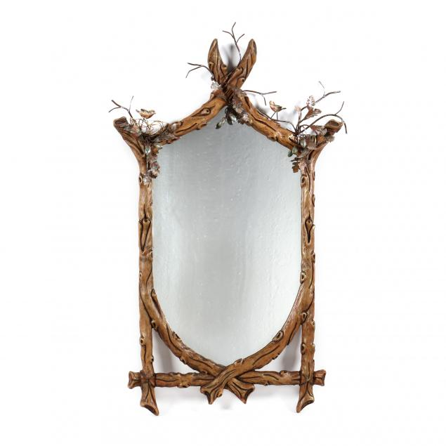 decorative-faux-bois-and-tole-decorated-mirror