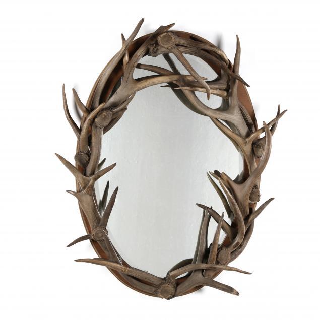 adirondack-style-oval-antler-mirror