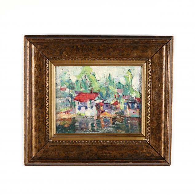 henrietta-sanderson-tn-ma-20th-century-harbor-scene