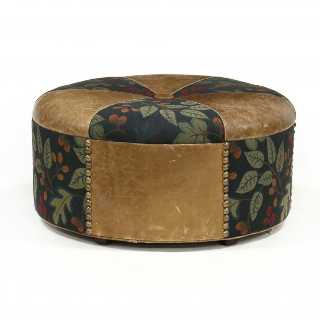 oversized-leather-upholstered-ottoman