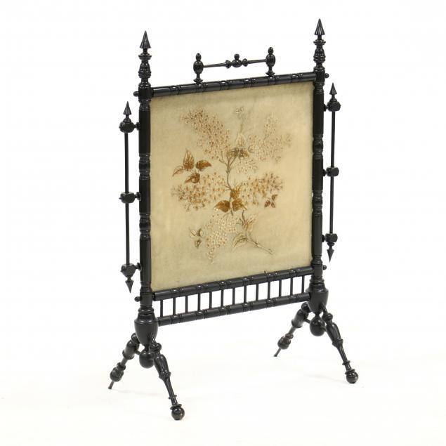 victorian-ebonized-and-embroidered-fire-screen