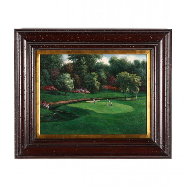 contemporary-painting-of-the-greenbrier-golf-course-west-virginia
