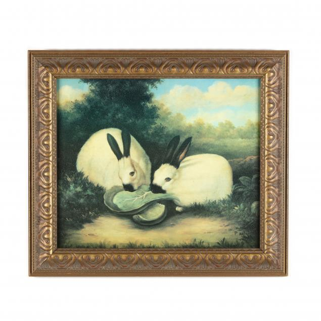 framed-print-on-canvas-of-rabbits