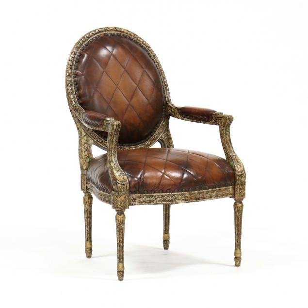 council-louis-xvi-style-leather-fauteuil