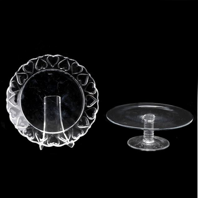tiffany-co-glass-cake-stand-and-cake-plate