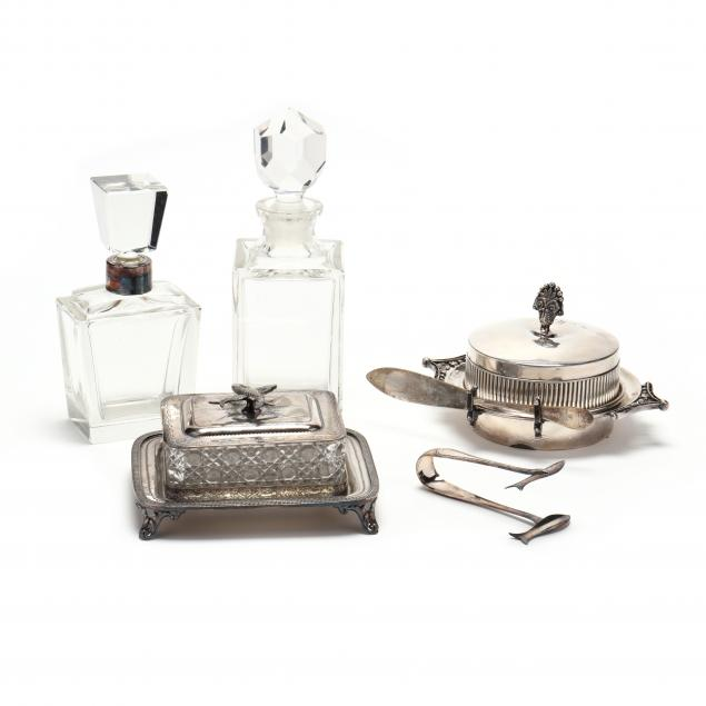 a-grouping-of-english-silverplate-and-cut-glass
