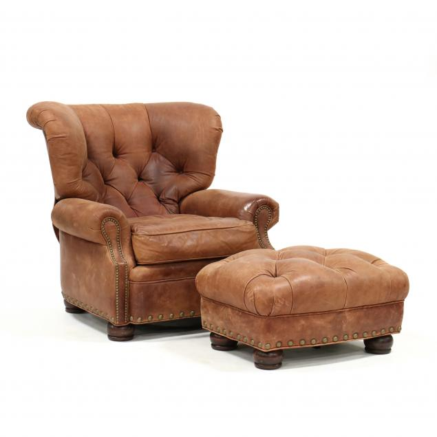 century-tufted-leather-recliner-and-ottoman