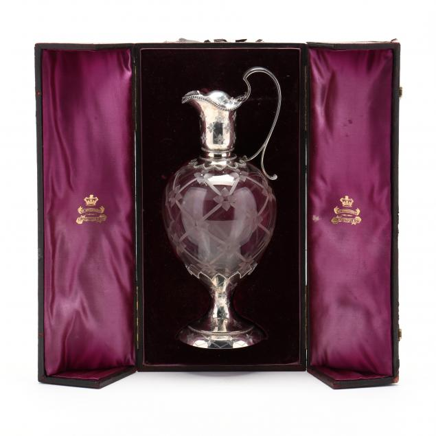 victorian-silver-and-cut-crystal-claret-pitcher