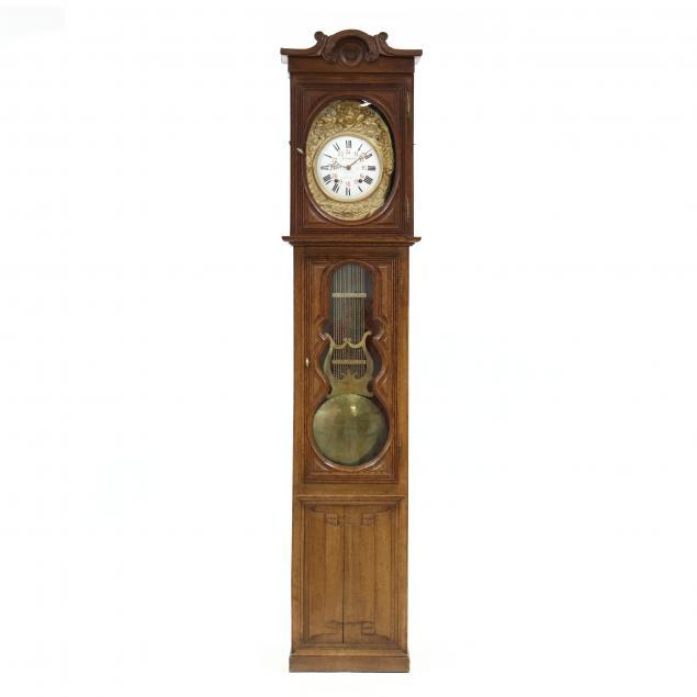 french-oak-tall-case-clock
