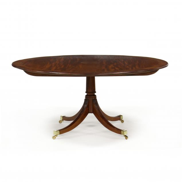 georgian-style-inlaid-mahogany-pedestal-table