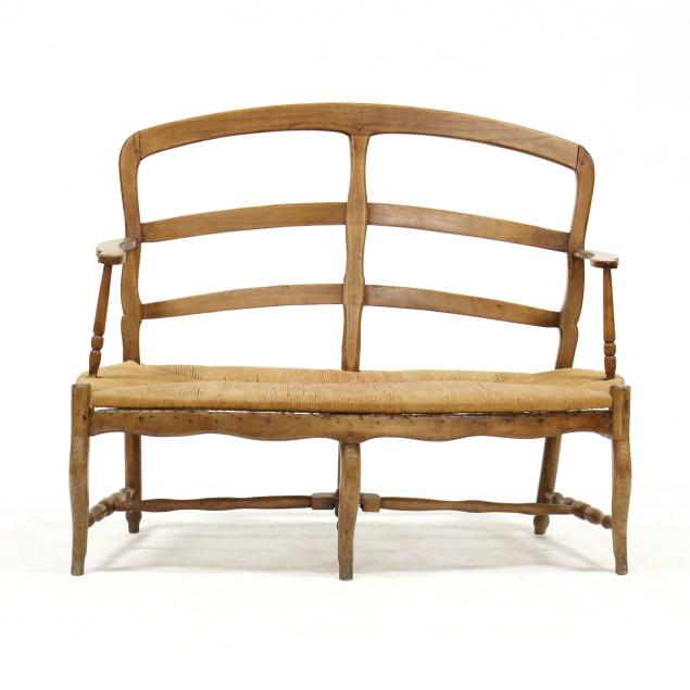 french-provincial-ladder-back-settee