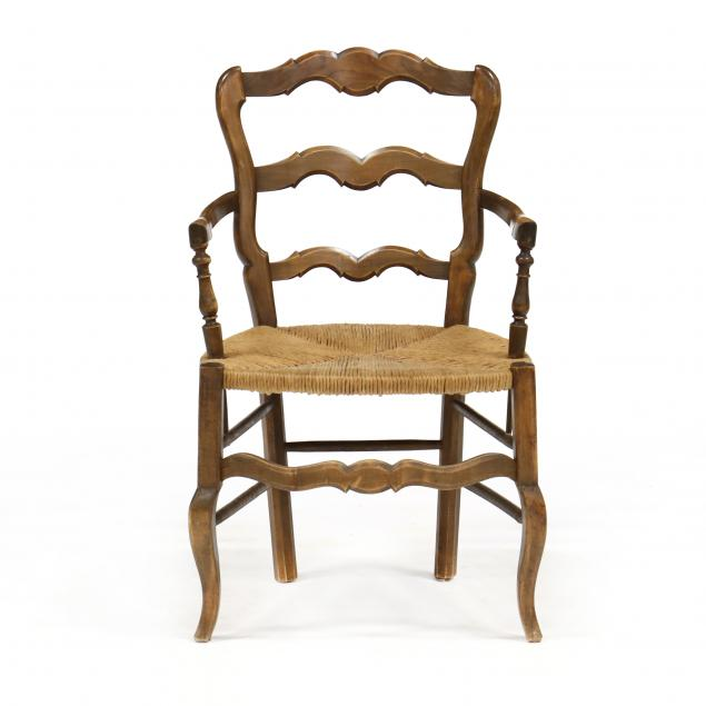 french-provincial-style-ladder-back-arm-chair