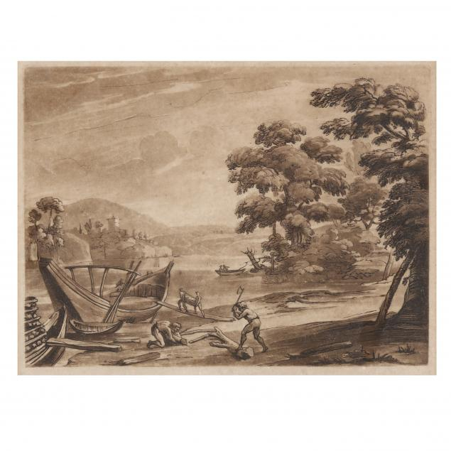 vintage-etching-of-men-splitting-wood