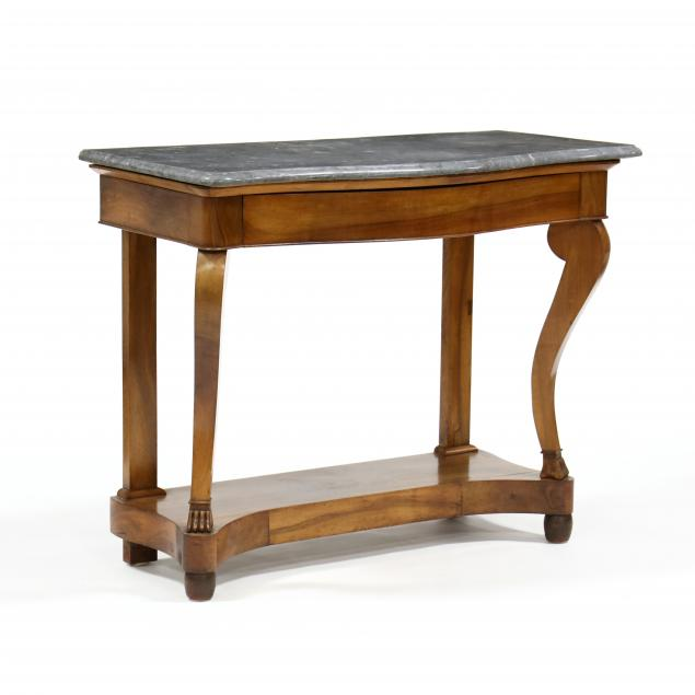 antique-french-walnut-marble-top-console-table